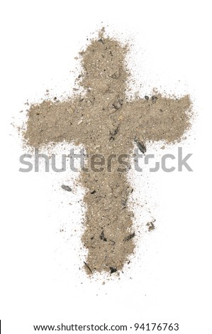 cross made of ashes