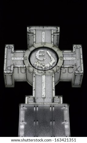 Cross of Liberty. Tallinn, Estonia - stock photo