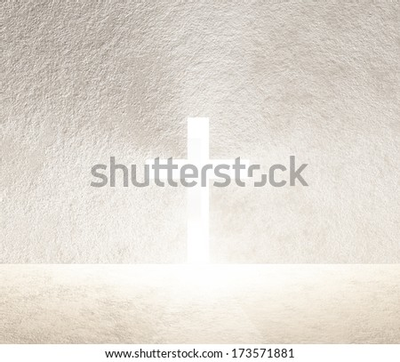 Cross of Light - stock photo