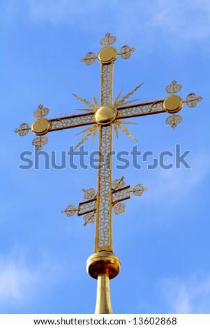 cross of the orthodoxy church - stock photo