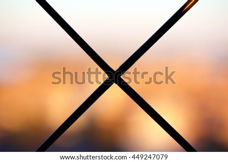 Cross on a bright background