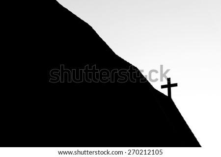 Cross on church - stock photo