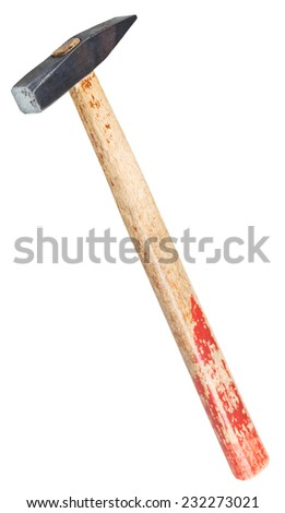 Cross Pein Hammer with square face isolated on white background