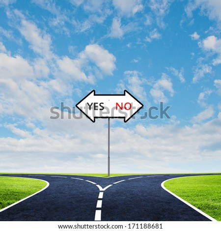 Cross road with direction sign. Choose your way - stock photo