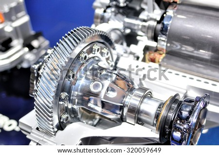Cross section of car gearbox. - stock photo