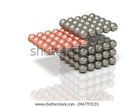 Cross-section sample that represents the structure - stock photo