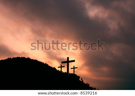 Cross- symbol of God's love to people - stock photo