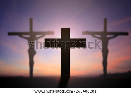 Cross with beautiful background.