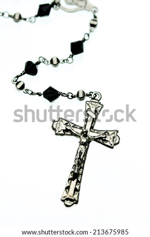 Cross with white background - stock photo