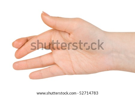 Crossed fingers isolated on white background - stock photo