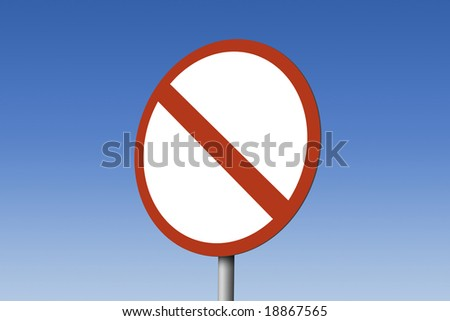 Crossed no entry road sign - stock photo