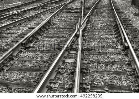 Crossed train tracks in Lansdale, USA.
