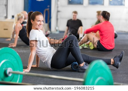 Crossfit exercise for flexibility and mobility  - stock photo