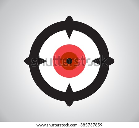 Crosshair, reticle, viewfinder, target graphics - stock photo