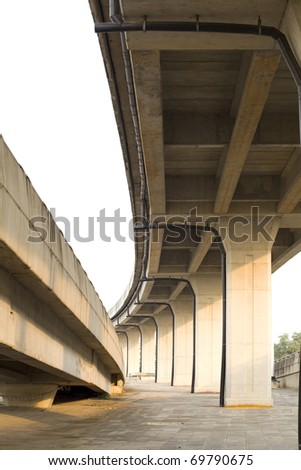 Crossing highway traffic - stock photo