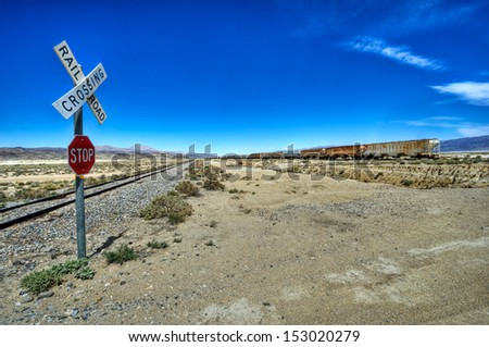 crossing railroad 04 - stock photo