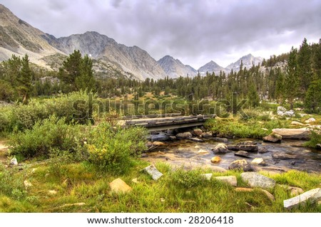 Crossing Ruby Creek - stock photo