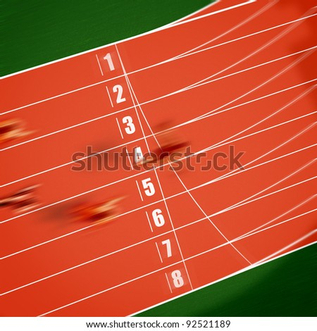 Crossing the finish line - stock photo