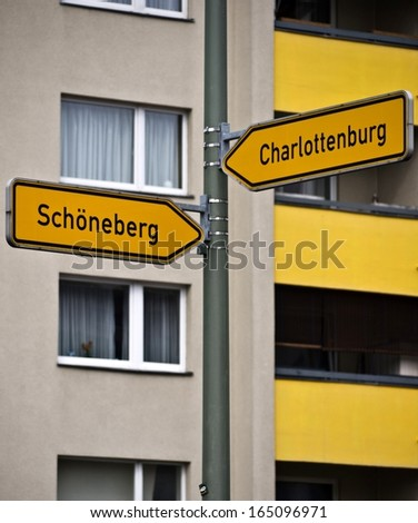 Crossroads in Berlin, Charlottenburg, Germany