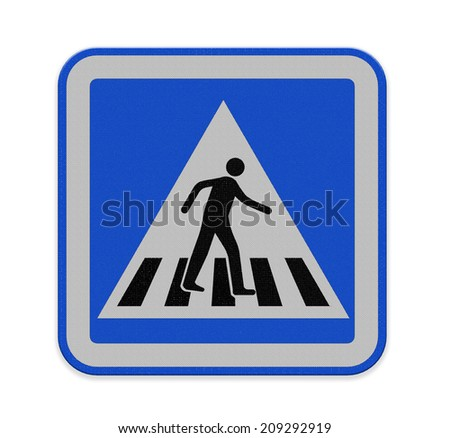 crosswalk sign with a man walking on yellow