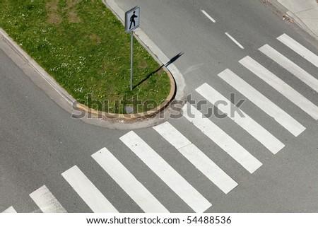 Crosswalk, Zebra Crossing for background - stock photo