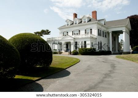 Crossways Mansion - Newport - Rhode Island - stock photo