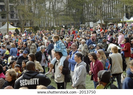 crowd - stock photo