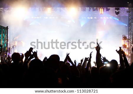 Crowd at concert - stock photo