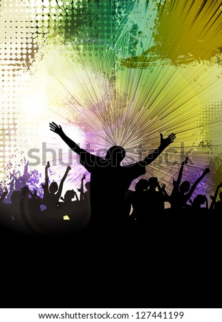 Crowd at the music concert - stock photo