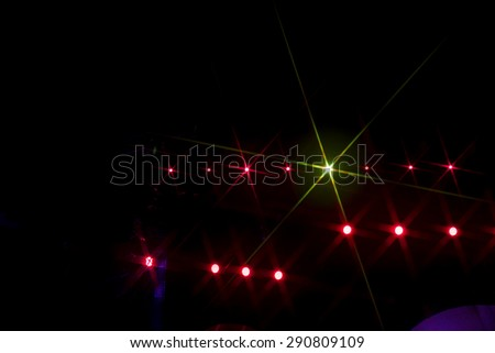 Crowd cheering at the music concert - stock photo