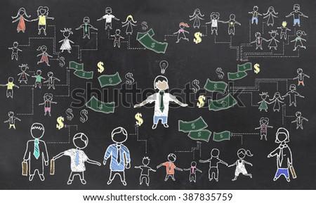 Crowd Funding Illustration - stock photo