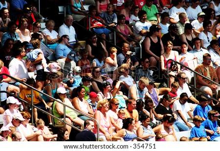 Crowd in the stadium - stock photo