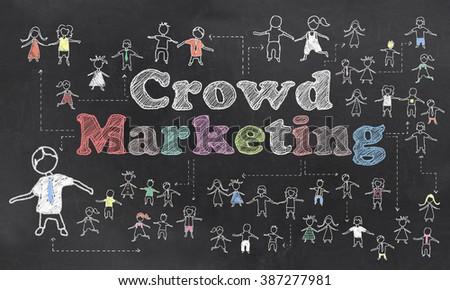 Crowd Marketing Illustration - stock photo