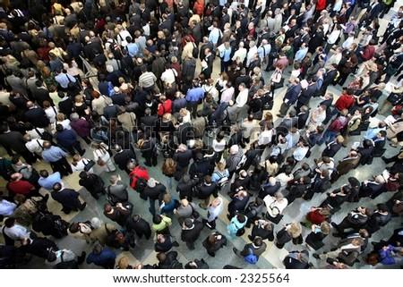 crowd of people - stock photo