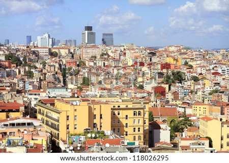 Crowded city of istanbul - stock photo