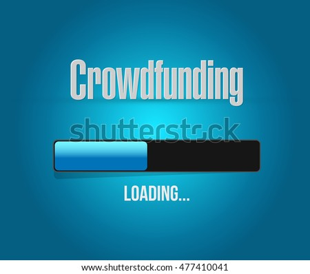 Crowdfunding Money Business loading bar illustration design graphic