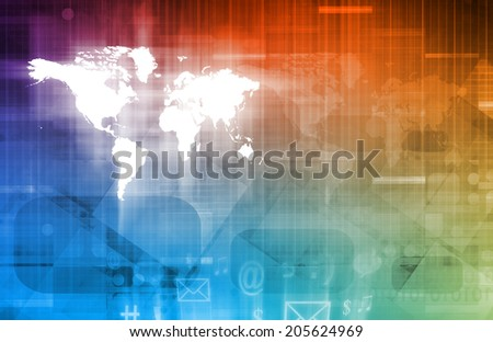 Crowdsourcing or a Crowd Sourcing Technology Art - stock photo
