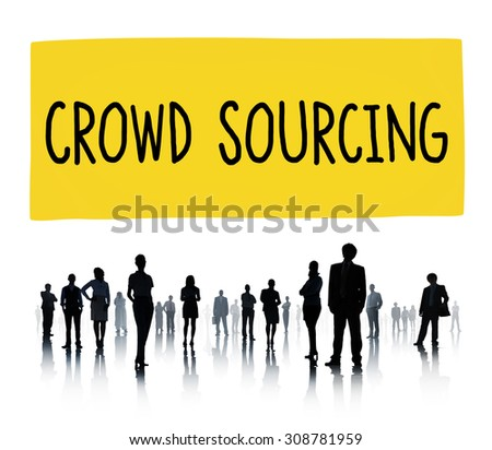 Crowedsourcing Collaboration Group Online Community Concept - stock photo