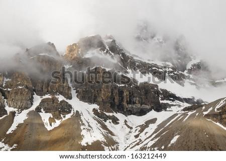 Crowfoot Glacier in Banff National Park, Alberta, Canada - stock photo