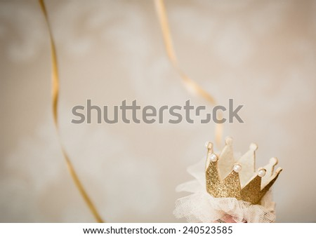 crown for the princess - stock photo