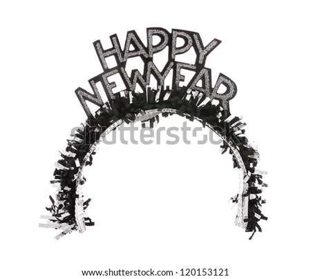 crown happy new year isolated on white background - stock photo