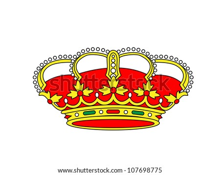 Crown Illustration - stock photo