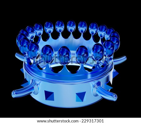 Crown isolated on black background  - stock photo