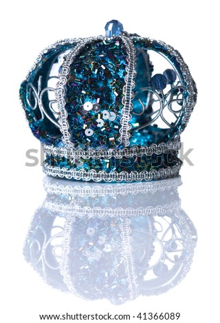 crown isolated on white background - stock photo