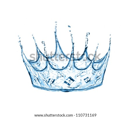 crown made from water splash - stock photo