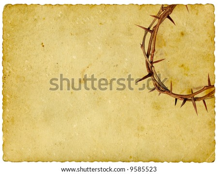 Crown of Thorns on vintage background - stock photo