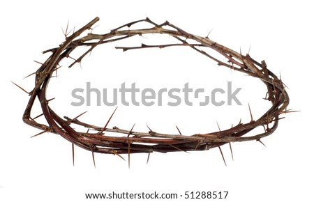 Crown of wood with thorns, torture concept