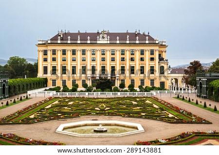 Crown prince privy garden of Schonbrunn Palace in Vienna, Austria - stock photo