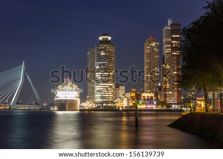 Crown Princess in Rotterdam Cruise City - stock photo
