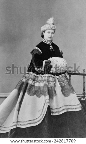 Crown Princess of Prussia, daughter of Queen Victoria of Great Britain and mother of Kaiser William II (1859-1941). Ca. 1867. - stock photo